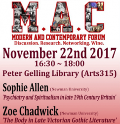 22 November: UoB Post-Grad Modern and Contemporary Forum hosts Newman researchers