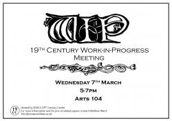 7 March: Work-in-Progress