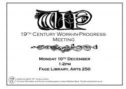 10 December: 19CC Work-in-Progress
