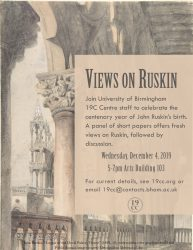4 December: Views on Ruskin
