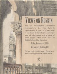 Feb. 14: Views on Ruskin Roundtable