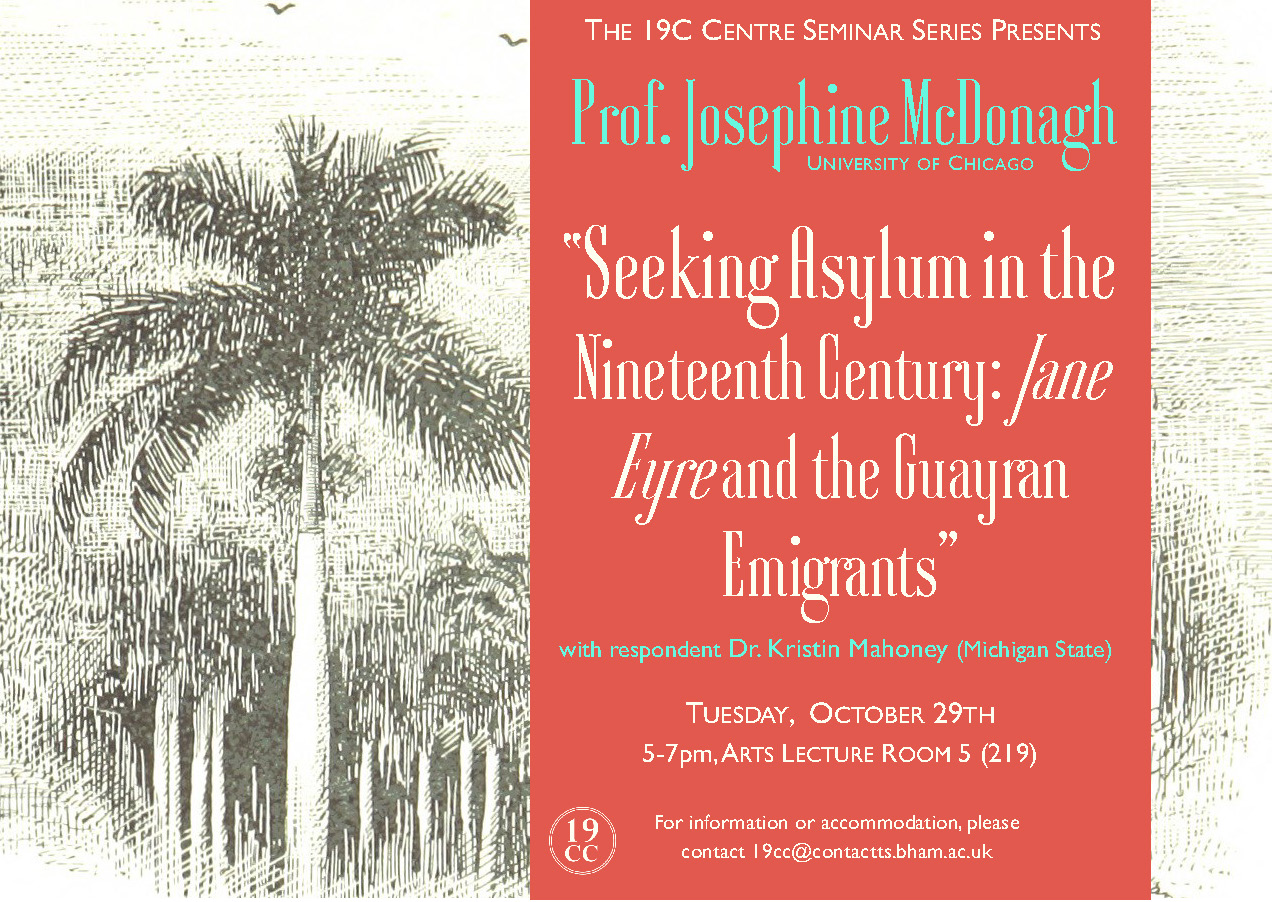 October 29: Prof. Josephine McDonagh