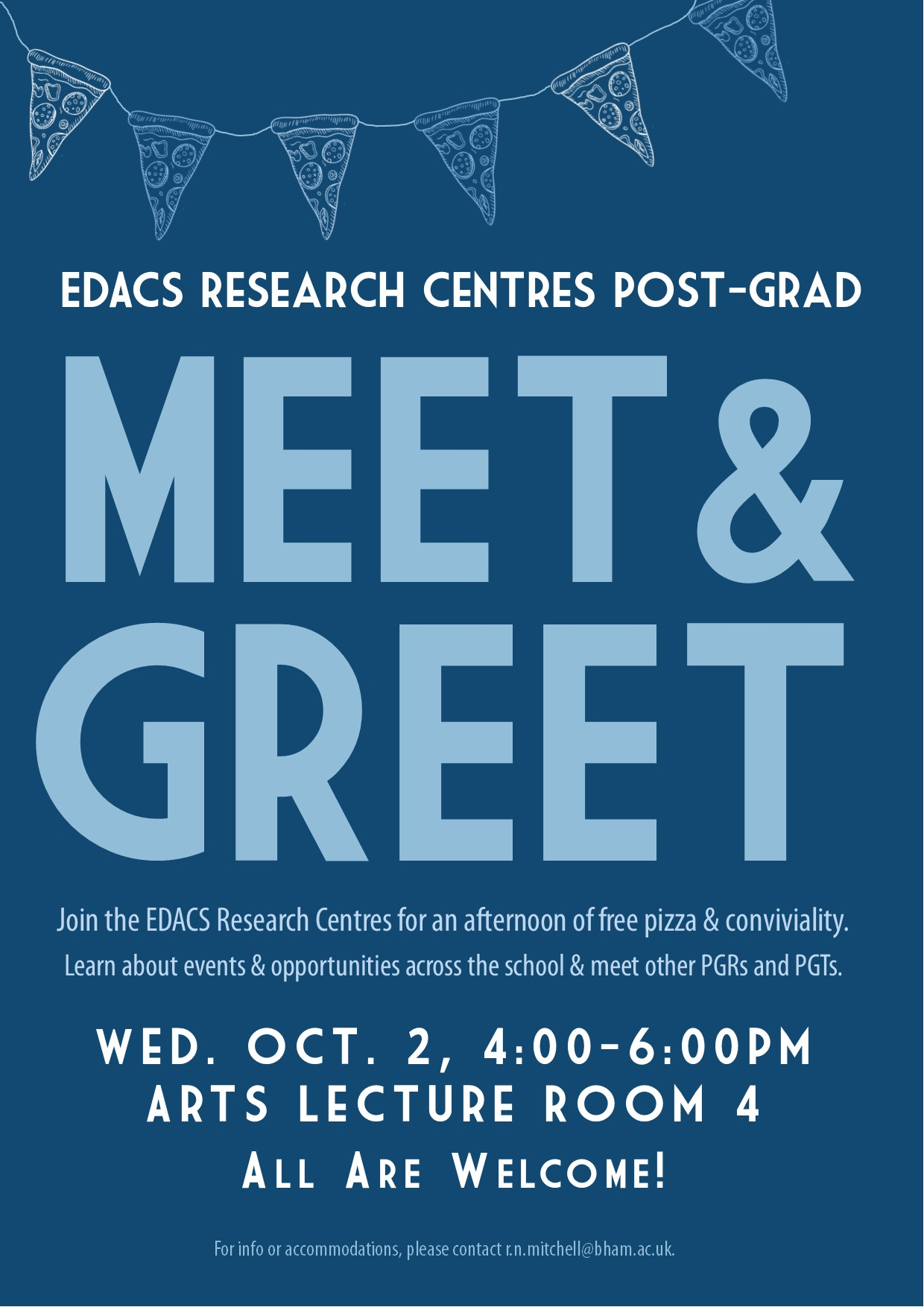 2 October:  Research Centre Meet & Greet