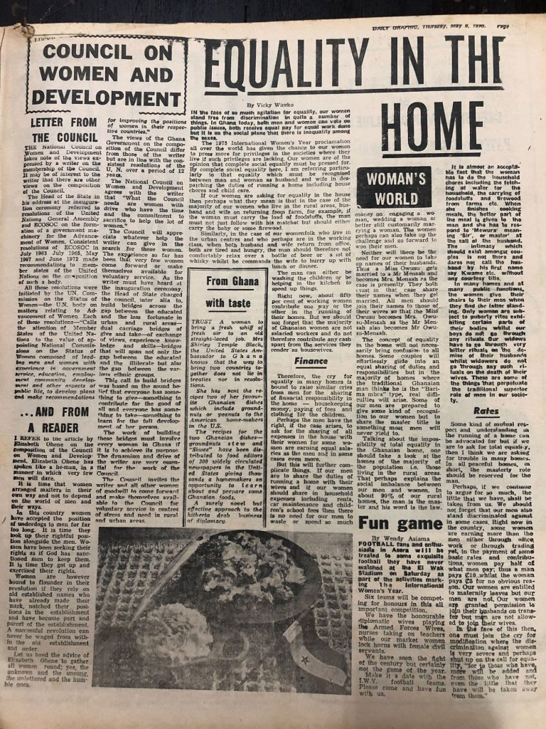 "Daily Graphic - May 8, 1975 ""Equality in the Home"""