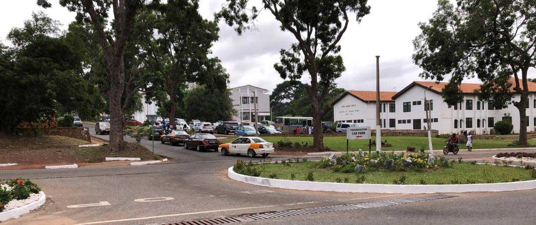Annie Jiagge road on the Legon campus, University of Ghana
