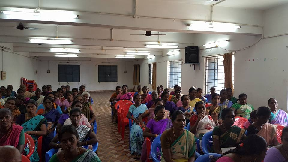 Garment industry recruitment and awareness campaign for women-headed families in rural Tamil Nadu
