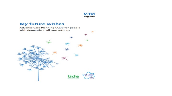 NHS England's new guide: Advanced Care Planning for people with dementia