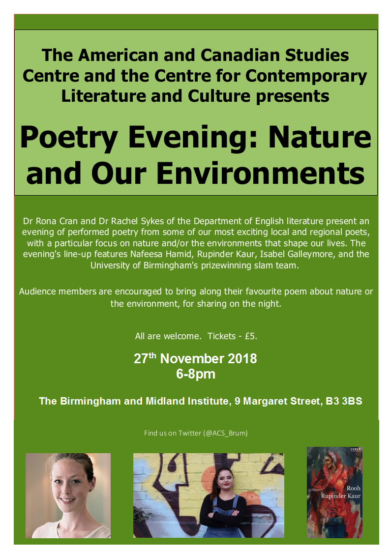 Poetry Reading Nature And Our Environments 27112018