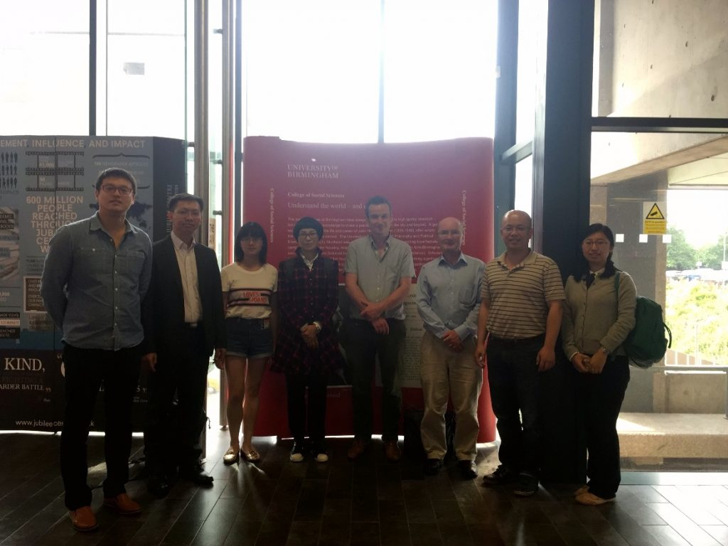 From Guangzhou to Birmingham: The GZU-UoB Joint Research