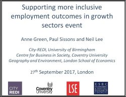 Supporting more inclusive employment outcomes in growth sectors