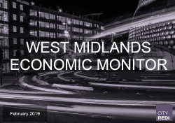 City-REDI launches the West Midlands Economic Monitor