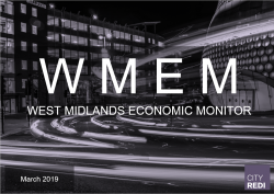 The March edition of the West Midlands Economic Monitor is now available
