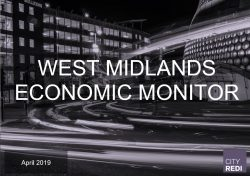 The West Midlands Economic Monitor – April 2019