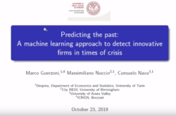 City-REDI Seminar Series: Predicting the Past: A Machine Learning Approach to Detect Innovative Firms in Time of Crisis