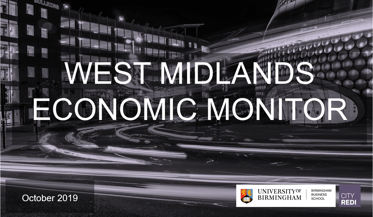 West Midlands Economic Monitor: October 2019