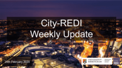 City-REDI Weekly Update – 20th February 2020