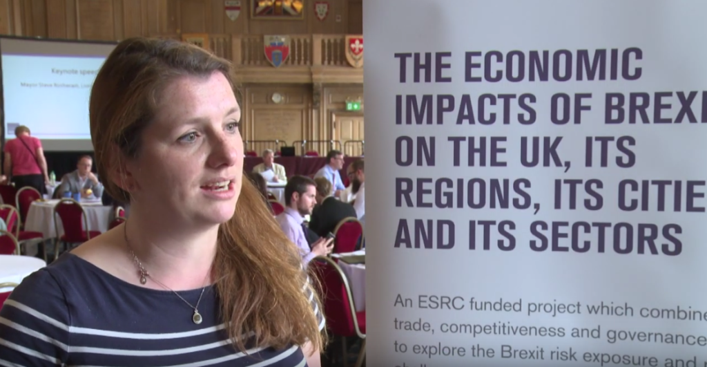 Alison McGovern MP at our workshops on the economic impacts of Brexit on the UK