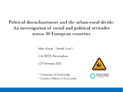 Political Disenchantment and the Urban-Rural Divide: An Investigation of Social and Political Attitudes Across 30 European Countries
