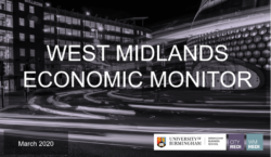 West Midlands Economic Monitor: March 2020