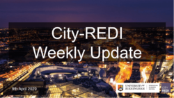 City-REDI Weekly Update – 9th April 2020