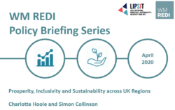 Prosperity, Inclusivity and Sustainability Across UK Regions – WM REDI Policy Briefing