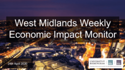West Midlands Weekly Economic Impact Monitor – 24 April 2020