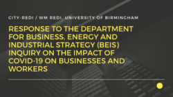 Response to the Department for Business, Energy and Industrial Strategy (BEIS) Select Committee Inquiry on the Impact of COVID-19 on Businesses and Workers