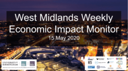 West Midlands Weekly Economic Impact Monitor – 15th May 2020