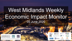 West Midlands Weekly Economic Impact Monitor – 5th June 2020