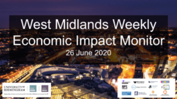 West Midlands Weekly Economic Impact Monitor – 26th June 2020