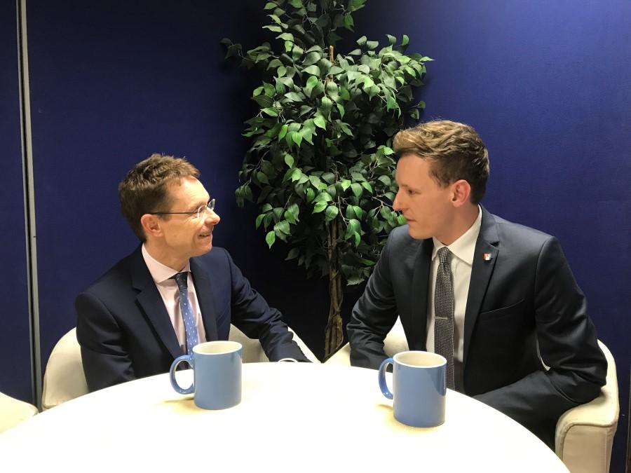 WM REDI's Ben Brittain interviewing Andy Street