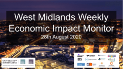 West Midlands Weekly Economic Impact Monitor – 28th August 2020