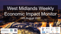 West Midlands Weekly Economic Impact Monitor – 14th August 2020