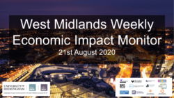 West Midlands Weekly Economic Impact Monitor – 21st August 2020