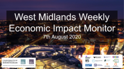 West Midlands Weekly Economic Impact Monitor – 7th August 2020