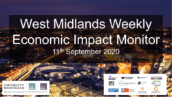 West Midlands Weekly Economic Impact Monitor – 11th September 2020