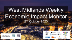 West Midlands Weekly Economic Impact Monitor – 2nd October 2020