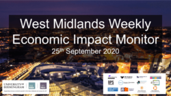 West Midlands Weekly Economic Impact Monitor – 25th September 2020