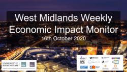 West Midlands Weekly Economic Impact Monitor – 16th October 2020