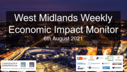 West Midlands Weekly Economic Impact Monitor – 6th August 2021