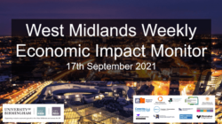 West Midlands Weekly Economic Impact Monitor – 17th September 2021
