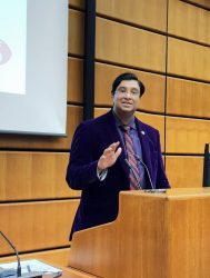Dr Iqtidar Cheema spoke at the United Nations conference to implement plan on ending violence and atrocities