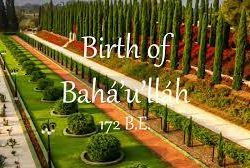 Birth of Bahá'u'lláh 18-19 October