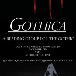 New Reading Group: GOTHICA (5pm, Thu 7 Nov)