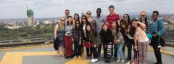 Masters students on Kenya study tour 2014