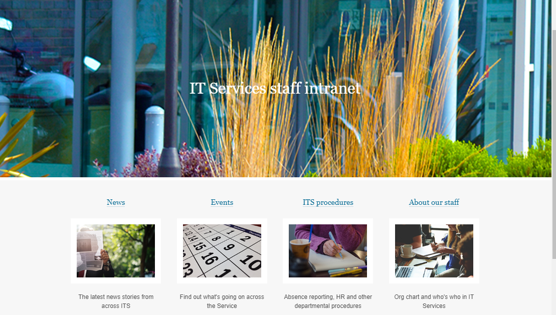 Coming soon: New look IT Services staff intranet – IT