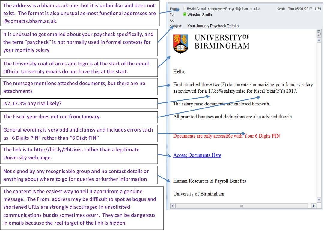 Example Of Bogus Email Advising Of A Par Rise Used Fro Phishing Or Malware  Distribution
