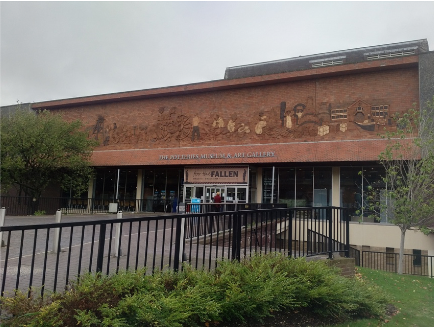 Exterior of The Potteries Museum and Art Gallery, 2018