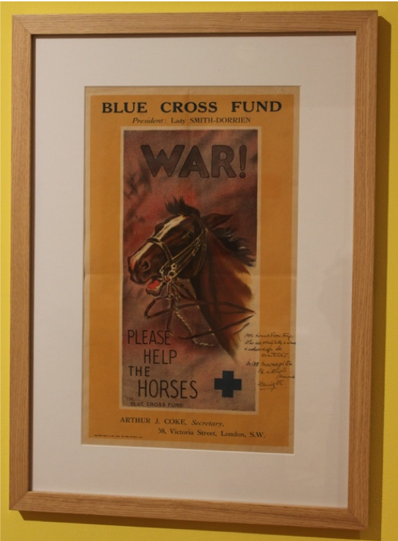 Blue Cross Fund Poster, 'Are You In This? Leamington Spa In The Great War' exhibition at the Leamington Spa Art Gallery and Museum.