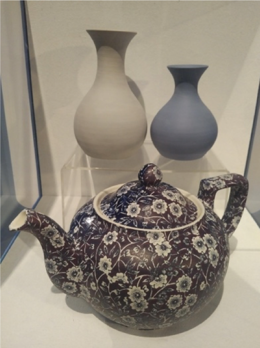 Blue exhibition, The Potteries Museum and Art Gallery, 2018